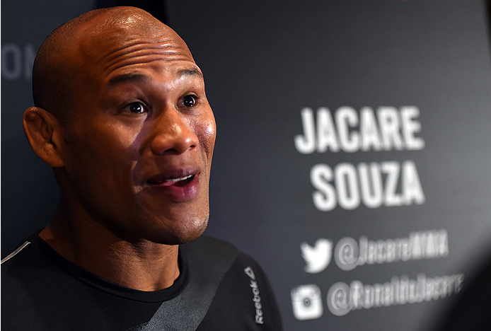 LAS VEGAS, NV - DECEMBER 09:  Ronaldo 'Jacare' Souza of Brazil interacts with media during the UFC Ultimate Media Day at MGM Grand Hotel & Casino on December 9, 2015 in Las Vegas, Nevada.  (Photo by Josh Hedges/Zuffa LLC/Zuffa LLC via Getty Images)