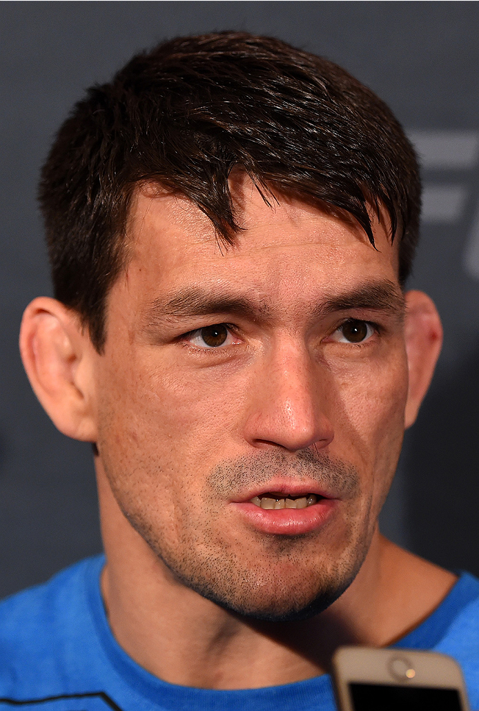 LAS VEGAS, NV - DECEMBER 09:  Demian Maia of Brazil interacts with media during the UFC Ultimate Media Day at MGM Grand Hotel & Casino on December 9, 2015 in Las Vegas, Nevada.  (Photo by Josh Hedges/Zuffa LLC/Zuffa LLC via Getty Images)