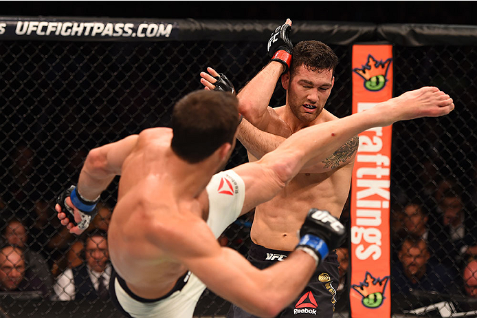 Rockhold became a champion at UFC 194  (Photo by Josh Hedges/Zuffa LLC/Zuffa LLC via Getty Images)
