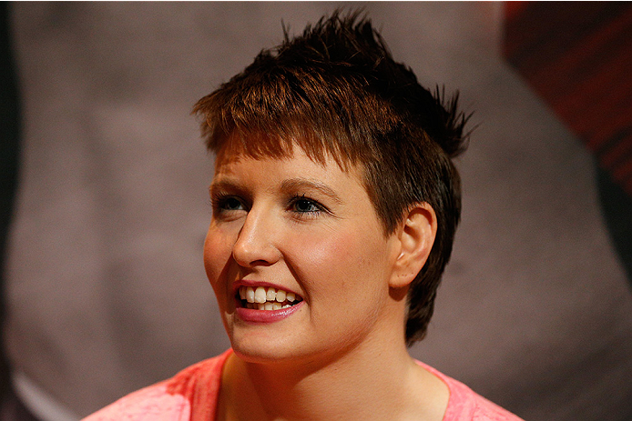 LAS VEGAS, NV - JULY 03:  The Ultimate Fighter season 20 cast member Aisling Daly interacts with media during the UFC Ultimate Media Day at the Mandalay Bay Resort and Casino on July 3, 2014 in Las Vegas, Nevada.  (Photo by Josh Hedges/Zuffa LLC/Zuffa LLC via Getty Images)
