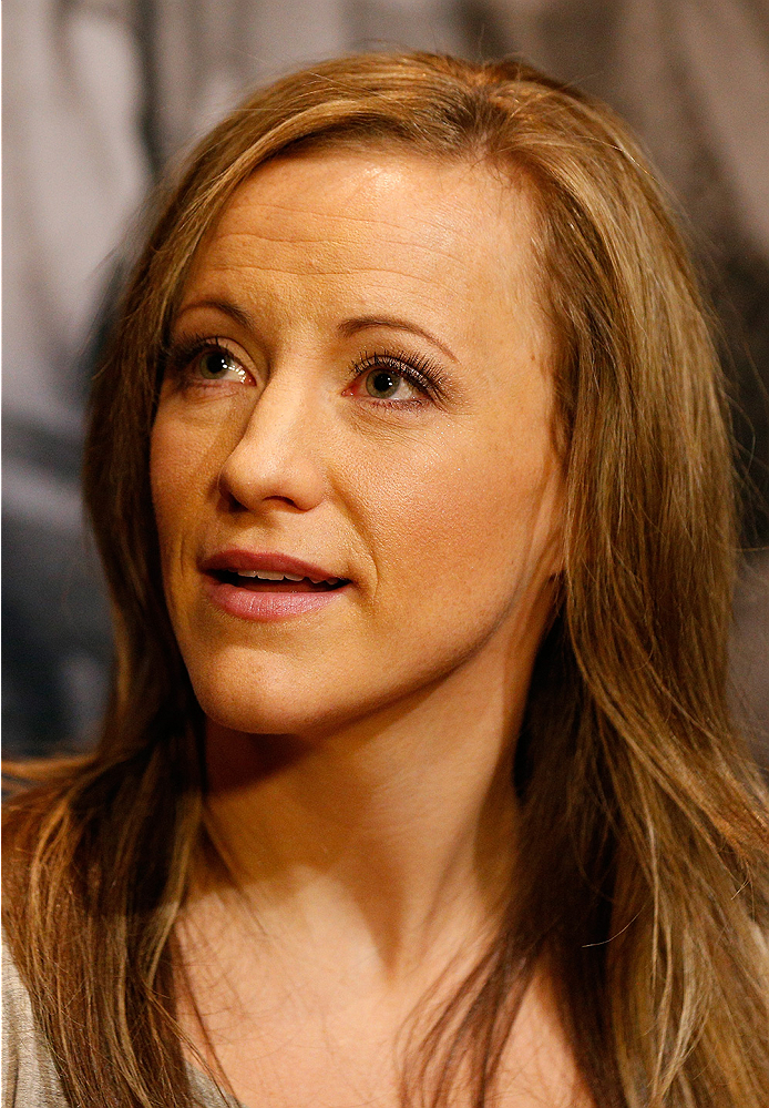 LAS VEGAS, NV - JULY 03:  The Ultimate Fighter season 20 cast member Lisa Ellis interacts with media during the UFC Ultimate Media Day at the Mandalay Bay Resort and Casino on July 3, 2014 in Las Vegas, Nevada.  (Photo by Josh Hedges/Zuffa LLC/Zuffa LLC via Getty Images)