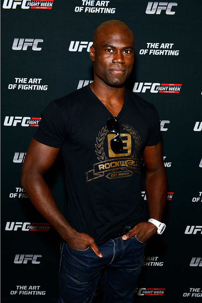 LAS VEGAS, NV - JULY 1:  UFC middleweight fighter Uriah Hall arrives at the Art of Fighting Exhibition to kick off the UFC International Fight Week at The Gallery on 1217 on July 1, 2014 in Las Vegas, Nevada. (Photo by Jeff Bottari/Zuffa LLC/Zuffa LLC via Getty Images)