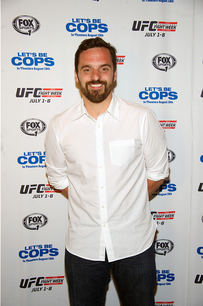 LAS VEGAS, NV - JULY 2:  Actor Jake Johnson arrives at the advanced screening of the Twentieth Century Fox film 'Let's Be Cops' during UFC International Fight Week at Brooklyn Bowl Las Vegas at The LINQ on July 2, 2014 in Las Vegas, Nevada. (Photo by Al Powers/Zuffa LLC/Zuffa LLC via Getty Images)