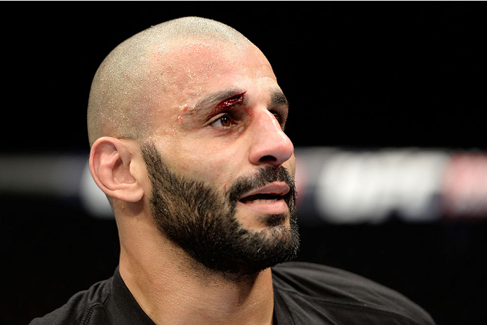 DULUTH, GA - JANUARY 15: Costas Philippou after losing to Luke Rockhold in their middleweight fight during the UFC Fight Night event inside The Arena at Gwinnett Center on January 15, 2014 in Duluth, Georgia. (Photo by Jeff Bottari/Zuffa LLC/Zuffa LLC via Getty Images)