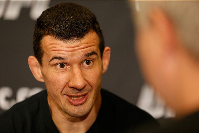 BRISBANE, AUSTRALIA - DECEMBER 05:  Anthony Perosh interacts with media during the UFC Ultimate Media Day at the Brisbane Marriott Hotel on December 5, 2013 in Brisbane, Australia. (Photo by Josh Hedges/Zuffa LLC/Zuffa LLC via Getty Images)