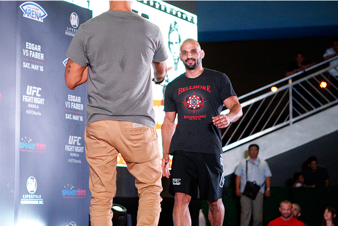 PASAY, PHILIPPINES - MAY 13: Costa Philippou holds an open training session for fans and media at the Music Hall inside the Mall of Asia on May 13, 2015 in Pasay, Philippines. (Photo by Mitch Viquez/Zuffa LLC/Zuffa LLC via Getty Images)