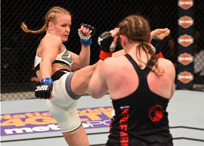 Shevchenko vs Kaufman, 12/19/15 (Photo by Josh Hedges/Zuffa LLC)