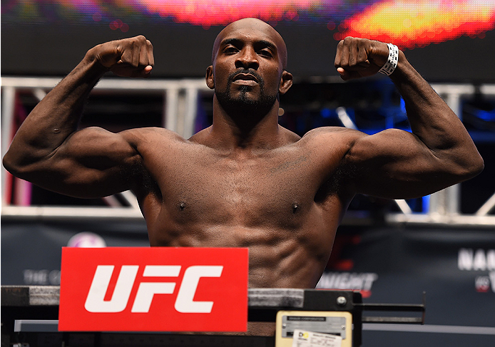 LAS VEGAS, NV - DECEMBER 09:  Kevin Casey weighs in during the UFC Fight Night weigh-in inside MGM Grand Garden Arena on December 9, 2015 in Las Vegas, Nevada.  (Photo by Josh Hedges/Zuffa LLC/Zuffa LLC via Getty Images)