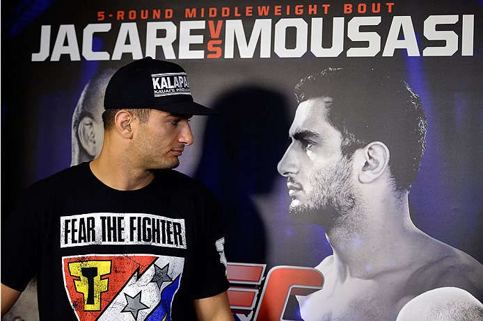 MASHANTUCKET, CT - SEPTEMBER 3:  Gegard Mousasi speaks to reporters during a media availability at the Foxwoods Resort Casino on September 3, 2014 in Mashantucket, Connecticut. (Photo by Jeff Bottari/Zuffa LLC/Zuffa LLC via Getty Images)