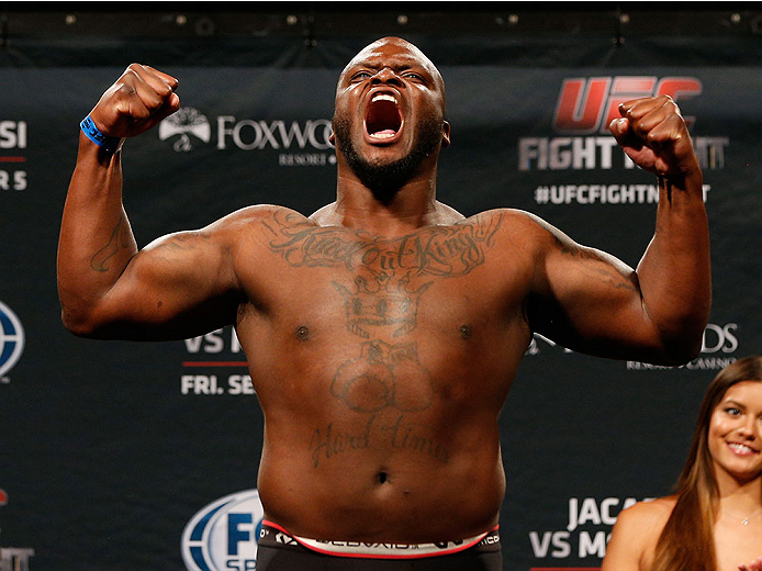 MASHANTUCKET, CT - SEPTEMBER 04:  Derrick Lewis weighs in during the UFC Fight Night weigh-in at Foxwoods Resort Casino on September 4, 2014 in Mashantucket, Connecticut.  (Photo by Josh Hedges/Zuffa LLC/Zuffa LLC via Getty Images)