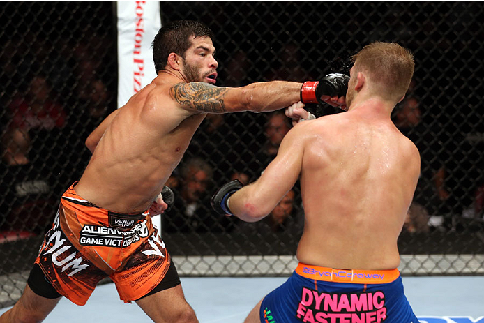 Assuncao vs Caraway, October 2014 (Photo by Nick Laham/Zuffa LLC)
