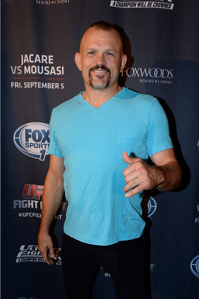MASHANTUCKET, CT - SEPTEMBER 5: Retired mixed martial artist Chuck Liddell arrives at the UFC's The Ultimate Fighter 20 event inside the Shrine at Foxwoods Resort Casino on September 5, 2014 in Mashantucket, Connecticut. (Photo by Jeff Bottari/Zuffa LLC/Zuffa LLC via Getty Images)