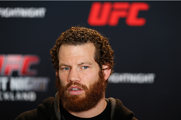 AUCKLAND, NEW ZEALAND - JUNE 26:  Nate Marquardt interacts with media during the UFC Ultimate Media Day at The Cloud at Queen's Wharf on June 26, 2014 in Auckland, New Zealand.  (Photo by Josh Hedges/Zuffa LLC/Zuffa LLC via Getty Images)