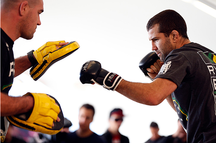AUCKLAND, NEW ZEALAND - JUNE 26:  Richie Vaculik holds an open training session during the UFC Ultimate Media Day at The Cloud at Queen's Wharf on June 26, 2014 in Auckland, New Zealand.  (Photo by Josh Hedges/Zuffa LLC/Zuffa LLC via Getty Images)