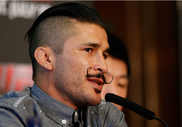 DUBLIN, IRELAND - JULY 16:  Ian McCall interacts with media at a press conference during the UFC media day at Royal Hospital Kilmainham on July 16, 2014 in Dublin, Ireland. (Photo by Josh Hedges/Zuffa LLC/Zuffa LLC via Getty Images)