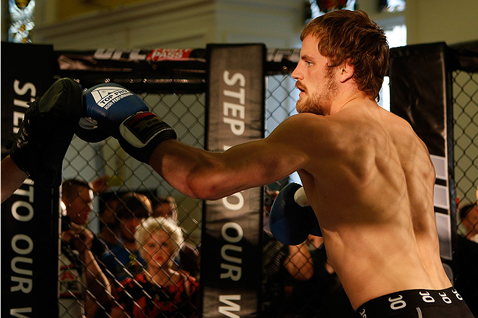 DUBLIN, IRELAND - JULY 16:  Gunnar Nelson holds an open training session during the UFC media day at Royal Hospital Kilmainham on July 16, 2014 in Dublin, Ireland. (Photo by Josh Hedges/Zuffa LLC/Zuffa LLC via Getty Images)