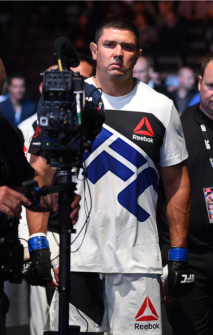 GLASGOW, SCOTLAND - JULY 18:  Chris De La Rocha of the United States enters the arena before his heavyweight fight against Daniel Omielanczuk of Poland during the UFC Fight Night event inside the SSE Hydro on July 18, 2015 in Glasgow, Scotland.  (Photo by Josh Hedges/Zuffa LLC/Zuffa LLC via Getty Images)