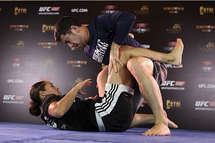 MACAU - AUGUST 21:  Elizabeth Phillips during the UFC open workouts at the Venetian Macau on August 21, 2014 in Macau. (Photo by Mitch Viquez/Zuffa LLC/Zuffa LLC via Getty Images)