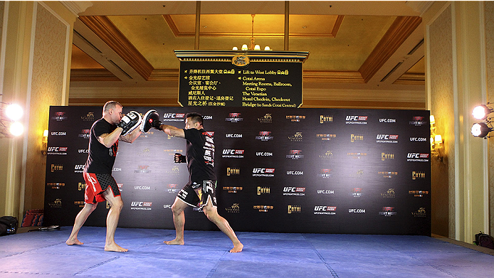 MACAU - AUGUST 21:  Cung Le during the UFC open workouts at the Venetian Macau on August 21, 2014 in Macau. (Photo by Mitch Viquez/Zuffa LLC/Zuffa LLC via Getty Images)