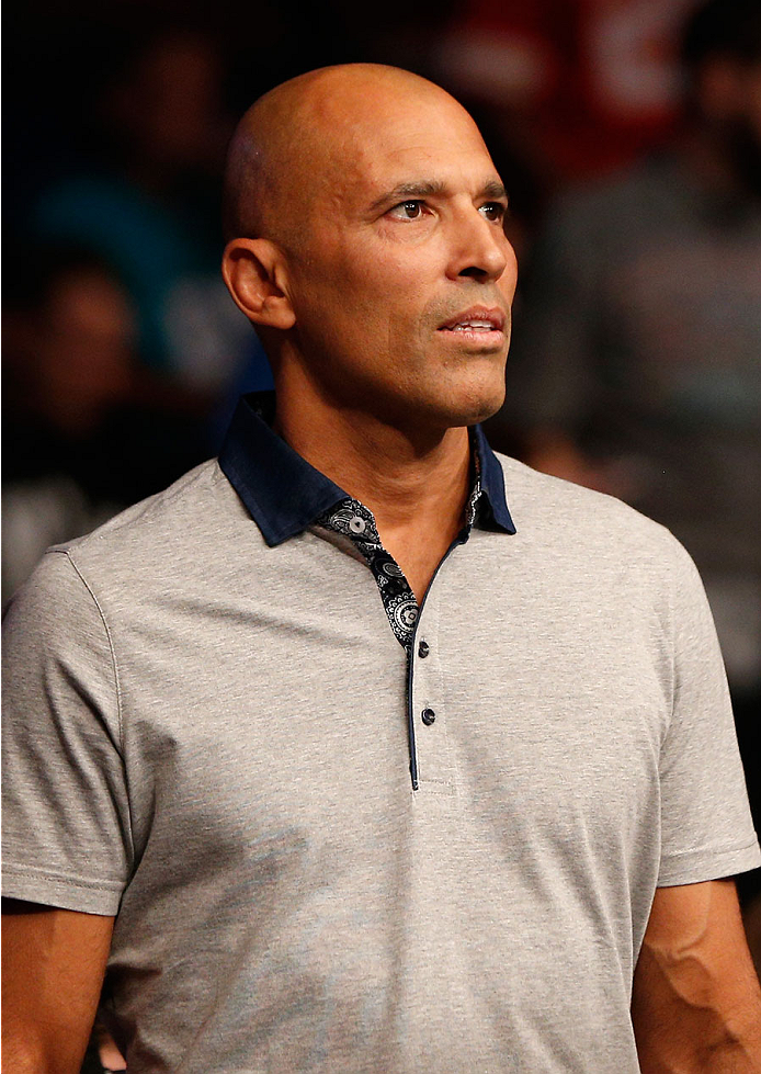 TULSA, OK - AUGUST 23:  UFC legend Royce Gracie is seen in attendance during the UFC Fight Night event at the BOK Center on August 23, 2014 in Tulsa, Oklahoma. (Photo by Josh Hedges/Zuffa LLC/Zuffa LLC via Getty Images)