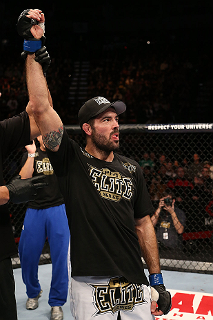 SEATTLE, WA - DECEMBER 08:  Matt Brown reacts to being declared the winner over Mike Swick after their welterweight bout at the UFC on FOX event on December 8, 2012  at Key Arena in Seattle, Washington.  (Photo by Ezra Shaw/Zuffa LLC/Zuffa LLC via Getty Images) *** Local Caption *** Mike Swick; Matt Brown