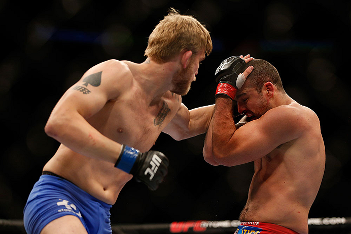 SEATTLE, WA - DECEMBER 08:  (L-R) Alexander Gustafsson punches Mauricio Rua during their light heavyweight bout at the UFC on FOX event on December 8, 2012  at Key Arena in Seattle, Washington.  (Photo by Josh Hedges/Zuffa LLC/Zuffa LLC via Getty Images) *** Local Caption *** Mauricio Rua; Alexander Gustafsson