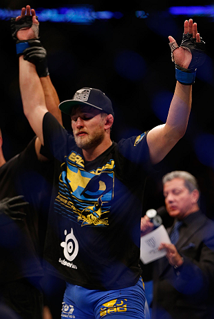 SEATTLE, WA - DECEMBER 08:  Alexander Gustafsson reacts to being declared the winner over Mauricio Rua during their light heavyweight bout at the UFC on FOX event on December 8, 2012  at Key Arena in Seattle, Washington.  (Photo by Josh Hedges/Zuffa LLC/Zuffa LLC via Getty Images) *** Local Caption *** Mauricio Rua; Alexander Gustafsson