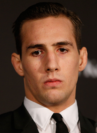 SEATTLE, WA - DECEMBER 06:  Rory MacDonald interacts with media during the UFC on FOX press conference on December 6, 2012  at Key Arena in Seattle, Washington.  (Photo by Josh Hedges/Zuffa LLC/Zuffa LLC via Getty Images)