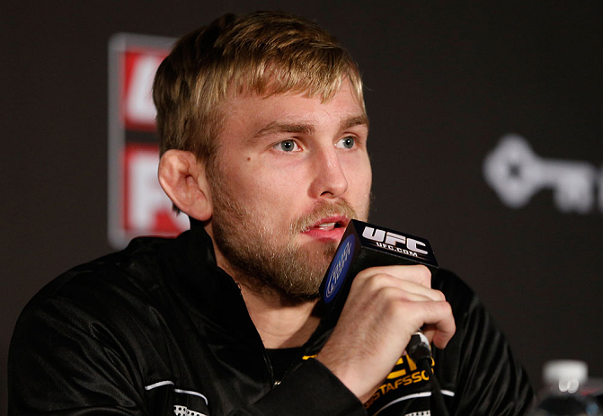 SEATTLE, WA - DECEMBER 06:  Alexander Gustafsson interacts with media during the UFC on FOX press conference on December 6, 2012 at Key Arena in Seattle, Washington.  (Photo by Josh Hedges/Zuffa LLC/Zuffa LLC via Getty Images)