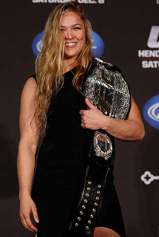 UFC women's bantamweight champion Ronda Rousey
