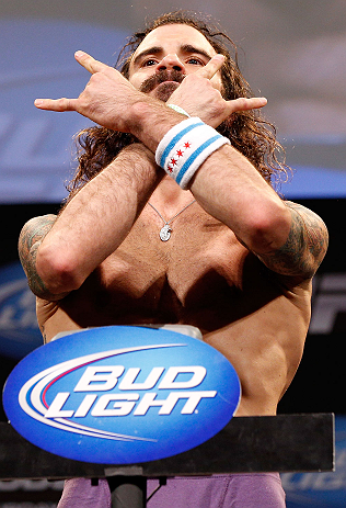 CHICAGO, IL - JANUARY 25:  Clay Guida weighs in during the UFC on FOX weigh-in on January 25, 2013 at the Chicago Theatre in Chicago, Illinois. (Photo by Josh Hedges/Zuffa LLC/Zuffa LLC via Getty Images)