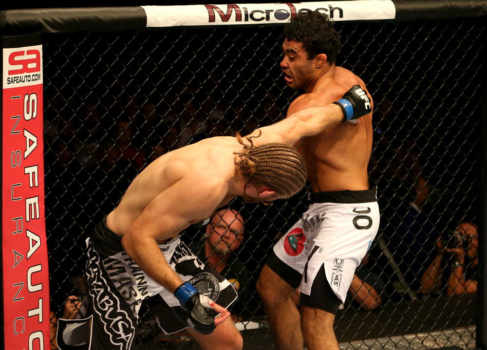 SAN JOSE, CA - JULY 11:   (R-L) Rafael Natal punches Andrew Craig during their middleweight bout at HP Pavilion on July 11, 2012 in San Jose, California.  (Photo by Ezra Shaw/Zuffa LLC/Zuffa LLC via Getty Images)  *** Local Caption *** Rafael Natal; Andrew Craig