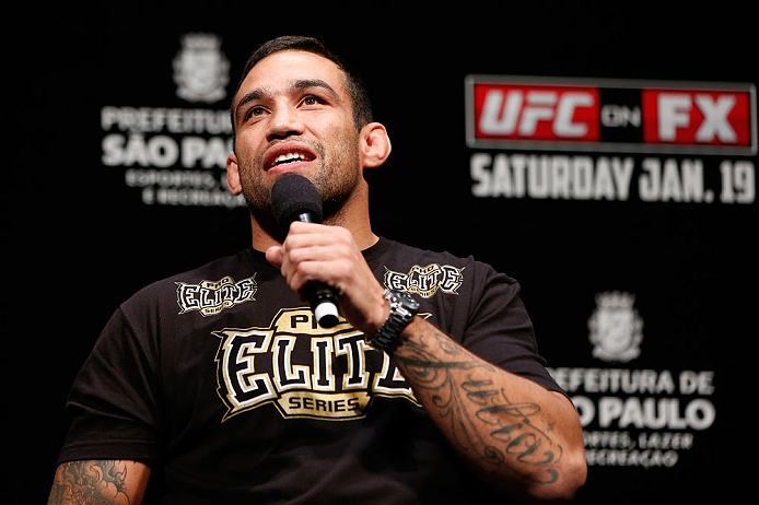 SAO PAULO, BRAZIL - JANUARY 18:  Fabricio Werdum interacts with fans during a Q&A session before the UFC on FX official weigh-in event on January 18, 2013 at Ibirapuera Gymnasium in Sao Paulo, Brazil. (Photo by Josh Hedges/Zuffa LLC/Zuffa LLC via Getty Images)
