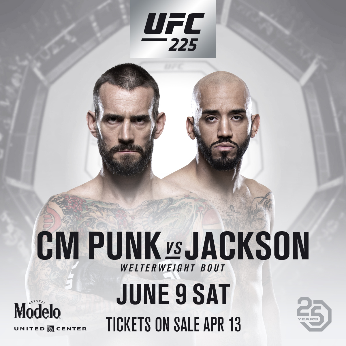 Former WWE Superstar CM Punk Returns Against Mike Jackson at UFC 225