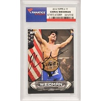 Chris Weidman UFC Autographed 2014 Topps #77 Card Limited Edition of 219