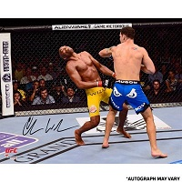 Chris Weidman Ultimate Fighting Championship Autographed 8'' x 10'' UFC 162 Knockout Photograph