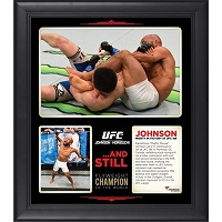 Demetrious Johnson Ultimate Fighting Championship Framed 15'' x 17'' UFC 186 Victory Over Kyoji Horiguchi Collage