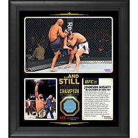 "Demetrious Johnson Ultimate Fighting Championship Framed 15"" x 17"" UFC 197 And Still Flyweight Champion Collage with a Piece of Canvas From UFC 197"