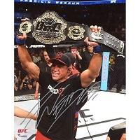 Fabricio Werdum Ultimate Fighting Championship Autographed 8'' x 10'' Raising Championship Photograph