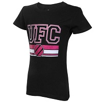 Girls Youth UFC Black Glitter Princess T-Shirt