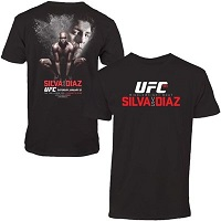 Mens Anderson Silva vs. Nick Diaz Black UFC 183 Event T-Shirt
