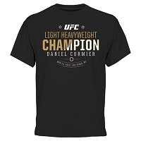 Men's Daniel Cormier Black UFC 187 Light Heavyweight Champion T-Shirt