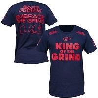 Mens Daniel Cormier Navy Blue UFC 182 Walkout T-Shirt