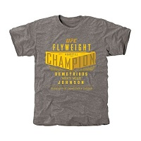 Men's Demetrious Johnson Ash UFC 186 Flyweight Champion Tri-Blend T-Shirt