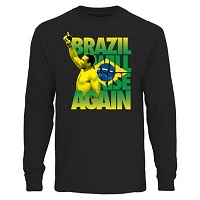 Men's Fabricio Werdum Black UFC Brazil Will Rise Long Sleeve T-Shirt