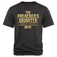 Men's Holly Holm Black UFC Haymaker Tri-Blend T-Shirt