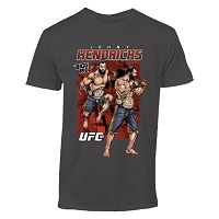 Mens Johny Hendricks Charcoal UFC 181 T-Shirt