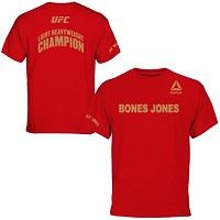 Men's Jon Jones Reebok Red UFC 182 Corner Walkout T-Shirt