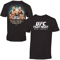 Men's Machida vs. Rockhold Black UFC Fight Night T-Shirt