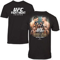 Men's Mendes vs. Lamas Black UFC Fight Night T-Shirt